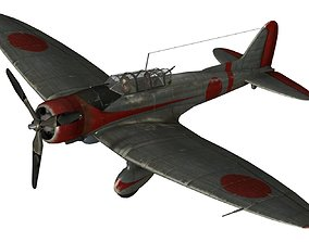 3D model FLY Game-Ready - Aichi D3A Val - Airplane