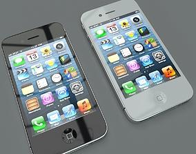 3D model Iphone 4s Black White