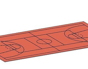 3D Quadra Poliesportiva sports court