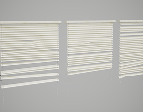3D asset Broken Window Blinds