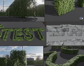 Low-Poly Boxwood Hedge Construction Kit Version 1 3D asset