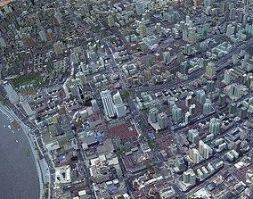 3D Shanghai city