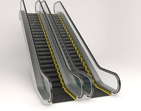 stair Animated up an down escalator 3D