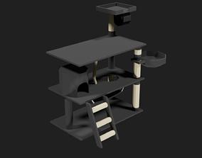 Lowpoly Scratching Post 3D asset