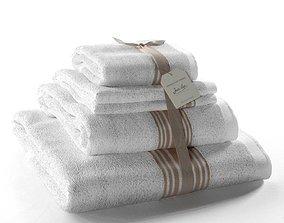 Set of Towels Grand Hotel Lin 3D towel