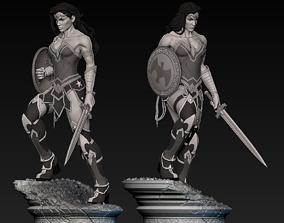 Wonder Woman Statue warrior 3D print model