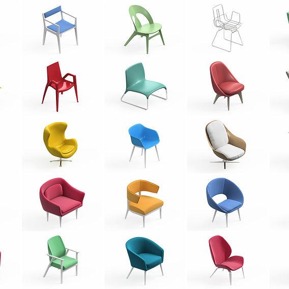 Armchair Modern Collection 25x