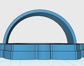 crown chakra cookie cutter 3D print model