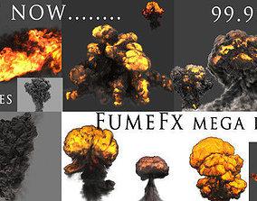 3D asset animated FumeFX Mega Pack