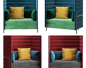3D model Vitra Alcove sofa