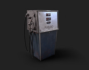 Vintage Gas Pump Dispenser 70s 80s 3D model