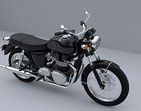 3D model biker Triumph Bonneville T100