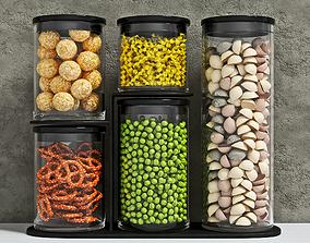Food Jars 3D model realtime