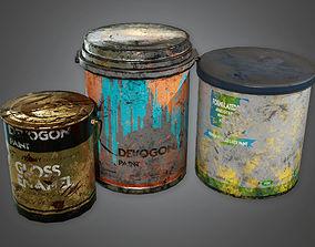 Paint Buckets TLS - PBR Game Ready 3D asset