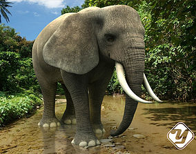 animated Elephant 3D Model for 3ds Max