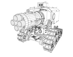 Space Marine Thunderfire Cannon 3D model