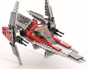 3D model Lego V-wing Fighter 6205