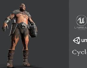 3D asset Cyclops Monster giant