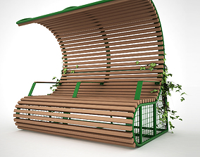 22 BENCH WITH SHELTER 3D