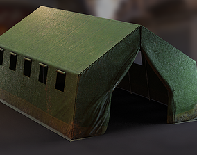 3D model Military Base Tent PBR
