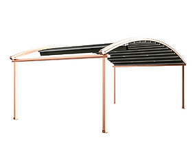 3D model Motorized Pergola 4 copper matte
