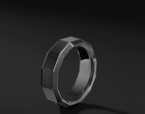 3D print model David Yurman Faceted Band Rings in Usa Size