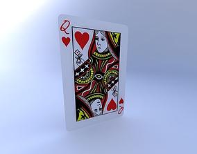 3D Queen of Hearts