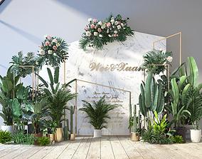 Plants 3D model game-ready pot-plant