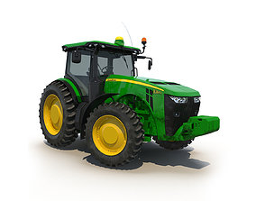 3D model Tractor John Deere 8335R Rigged