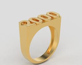year ring 2000 3D print model