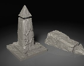 3D printable model Elvish Glyph Tower Ruins