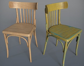 3D asset Wooden Chair Ton