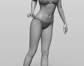 Bikini girl 3D printable model young
