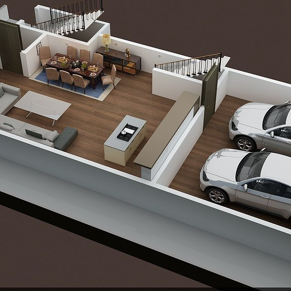 3D FLOOR PLAN PROJECTS OF APPARTMETN BUILDING