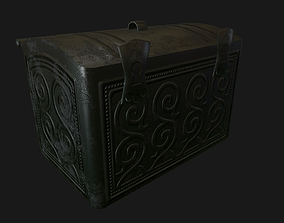 Chest 3D model low-poly