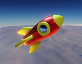 Lowpoly Rocket 3D model