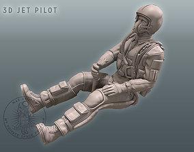 figurines 3D Jet Pilot