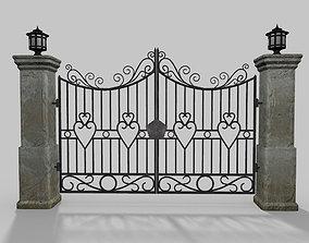 Driveway Gate Old 3D asset