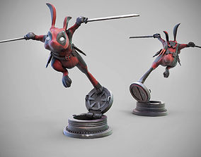 BunnyPool the Rabbit Merc 3D print model