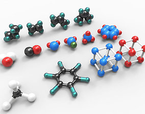 low-poly Collection of models of atoms