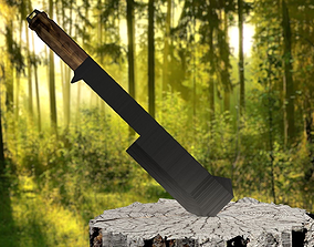 3D 26 Inch Steel Tactical Machete Cleaver Knife