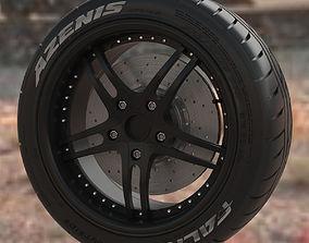 3D Wheel with tire Falken Azenis RT 615 part
