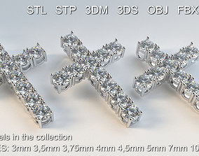 Collection Cross with diamonds 3D model