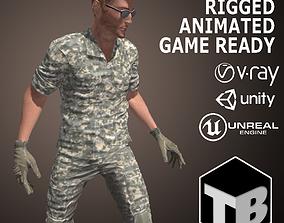 3D model Male Soldier