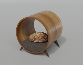 Cat House - Round House - Bed 3D model