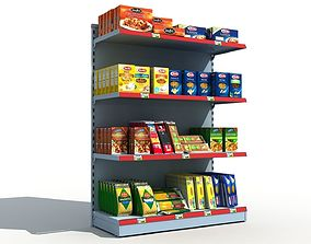 Supermarket Shelves Pasta 3D model