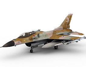 3D General Dynamics F-16 C Fighting Falcon Israel Schme 1