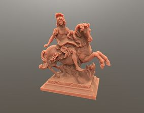 3D printable model Louis King Statue on horse