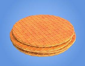 3D model confectionary Caramel waffle