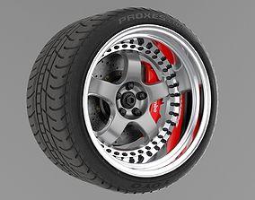 3D model work meister s1 3piece wheel